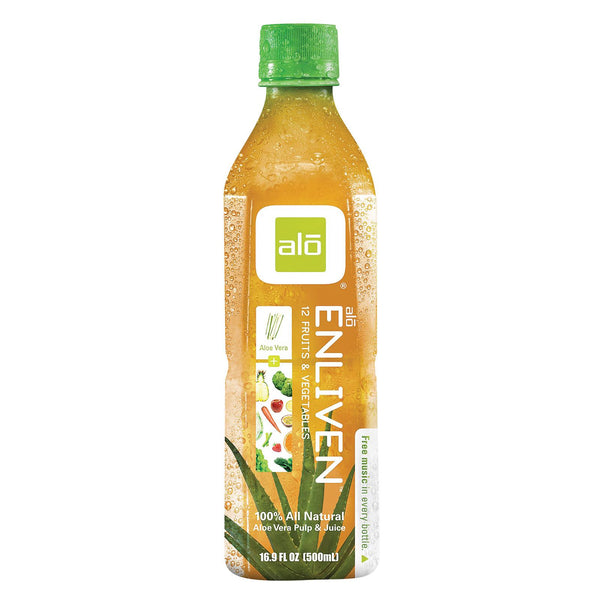 Alo Original Enliven Aloe Vera Juice Drink - 12 Fruits And Vegetables - Case Of 12 - 16.9 Fl Oz. - exploreLOHAS