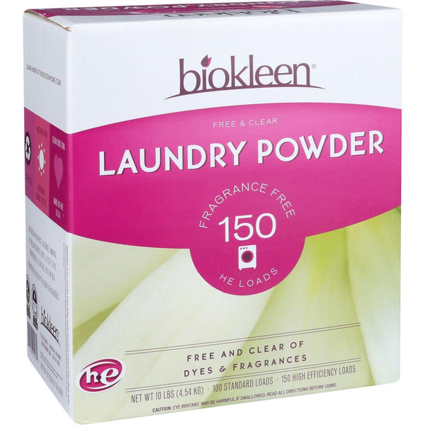 Biokleen Laundry Powder - Free And Clear - 10 Lb - exploreLOHAS