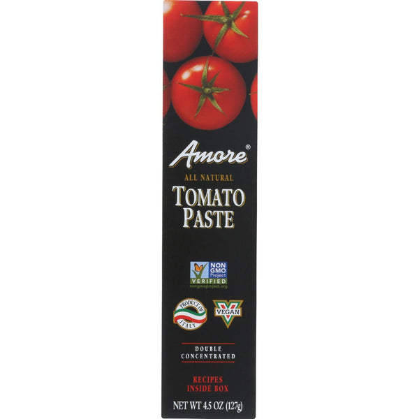 Amore Tomato Paste - Tube - 4.5 Oz - Case Of 12 - exploreLOHAS