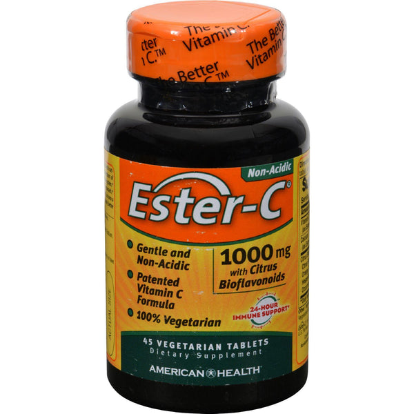 American Health Ester-c With Citrus Bioflavonoids - 1000 Mg - 45 Vegetarian Tablets - exploreLOHAS