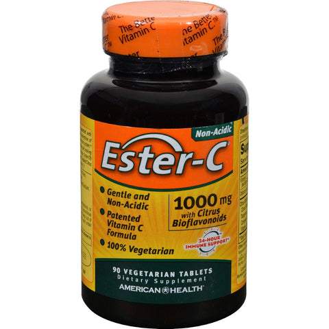 American Health Ester-c With Citrus Bioflavonoids - 1000 Mg - 90 Vegetarian Tablets - exploreLOHAS