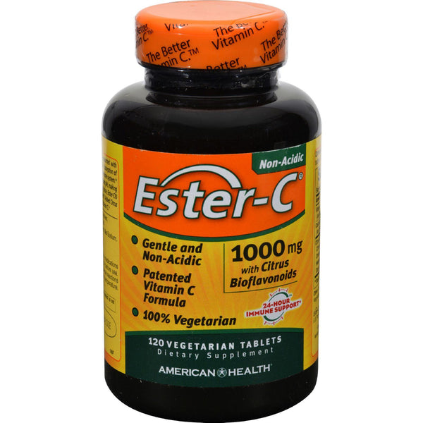 American Health Ester-c With Citrus Bioflavonoids - 1000 Mg - 120 Vegetarian Tablets - exploreLOHAS