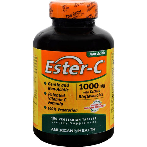 American Health Ester-c With Citrus Bioflavonoids - 1000 Mg - 180 Vegetarian Tablets - exploreLOHAS