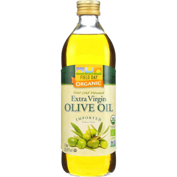 Field Day Olive Oil - Organic - Extra Virgin - Imported - Glass Bottle - 1 L - Case Of 12 - exploreLOHAS