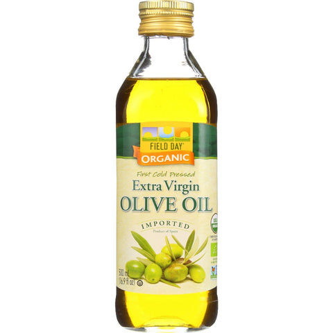 Field Day Olive Oil - Organic - Extra Virgin - Imported - Glass Bottle - 500 Ml - Case Of 12 - exploreLOHAS