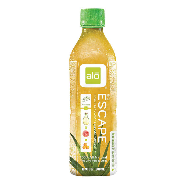 Alo Original Escape Aloe Vera Juice Drink - Pineapple And Guava - Case Of 12 - 16.9 Fl Oz. - exploreLOHAS