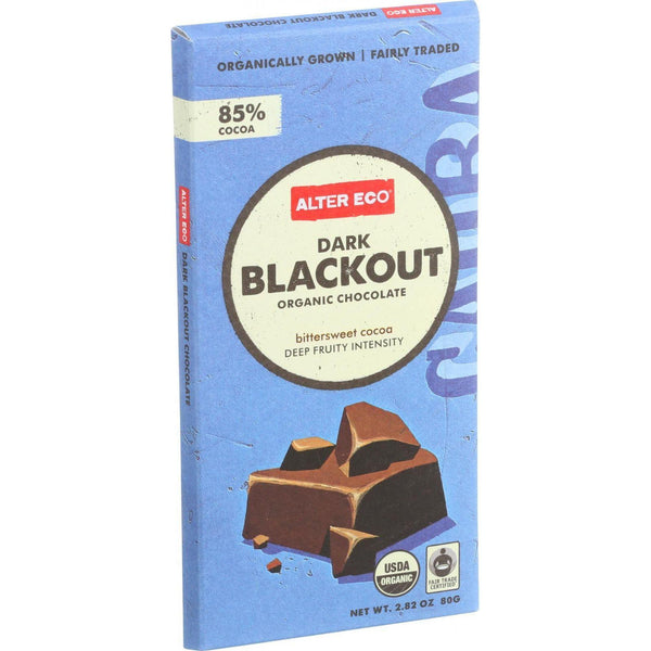 Alter Eco Americas Organic Chocolate Bar - Dark Blackout - 2.82 Oz Bars - Case Of 12 - exploreLOHAS