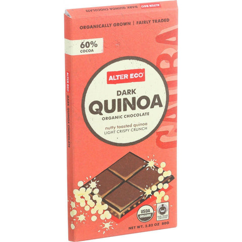 Alter Eco Americas Organic Chocolate Bar - Dark Quinoa - 2.82 Oz Bars - Case Of 12 - exploreLOHAS