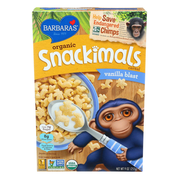 Barbara's Bakery Organic Snackimals Cereal - Vanilla - Case Of 12 - 9 Oz. - exploreLOHAS