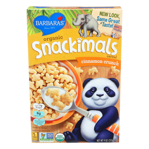 Barbara's Bakery Organic Snackimals Cereal - Cinnamon Crunch - Case Of 12 - 9 Oz. - exploreLOHAS