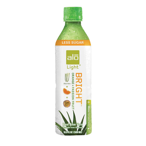 Alo Light Bright Aloe Vera Juice Drink - Orange And Passion Fruit - Case Of 12 - 16.9 Fl Oz. - exploreLOHAS