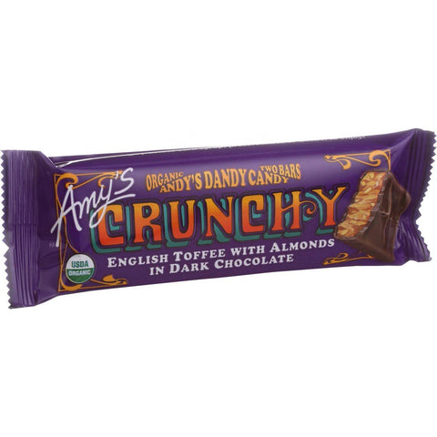 Amy's Organic Andy's Dandy Candy Bar - Crunchy - 1.5 Oz Bars - Case Of 12 - exploreLOHAS