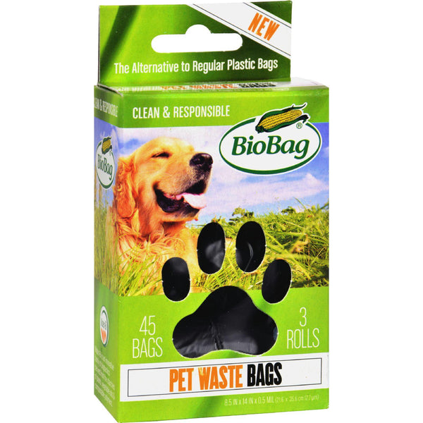 Biobag Dog Waste Bags On A Roll - Case Of 12 - 45 Count - exploreLOHAS