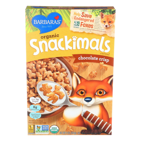Barbara's Bakery Organic Snackimals Cereal - Chocolate Crisp - Case Of 12 - 9 Oz. - exploreLOHAS