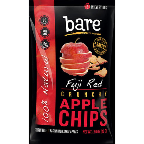 Bare Fruit All Natural Crunchy Apple Chips - Fuji Red - Case Of 24 - exploreLOHAS