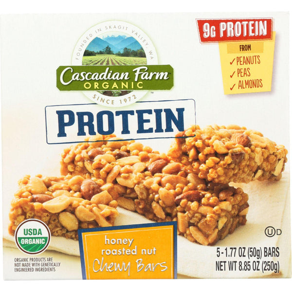 Cascadian Farm Granola Bar - Organic - Protein - Honey Roasted Nut - 8.85 Oz - Case Of 12 - exploreLOHAS