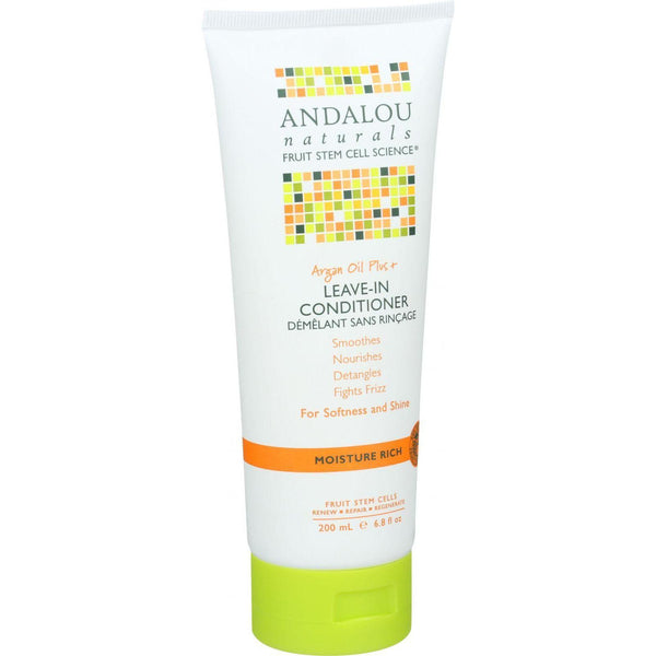 Andalou Naturals Conditioner - Moisture Rich Leave In - Argan Oil Plus - 6.8 Oz - exploreLOHAS