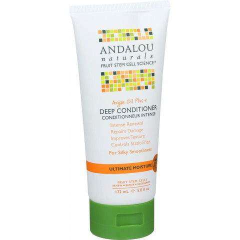 Andalou Naturals Conditioner - Ultimate Moisture Deep - Argan Oil Plus - 6 Oz - exploreLOHAS