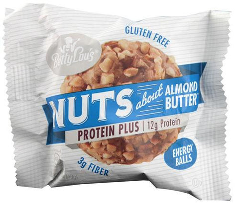 Betty Lou's Nut Butter Balls - Protein Plus - Almond - 1.7 Oz - 12 Ct - exploreLOHAS