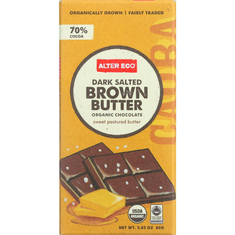 Alter Eco Americas Chocolate - Organic - Dark Salted Brown Butter - 2.82 Oz - Case Of 12 - exploreLOHAS