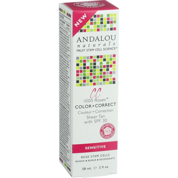 Andalou Naturals Color Plus Correct - Sheer Spf 30 - Tan - 2 Oz - exploreLOHAS