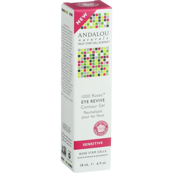 Andalou Naturals Eye Revive Contour Gel - 1000 Roses - .6 Oz - exploreLOHAS