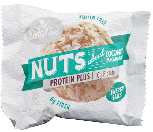 Betty Lou's Nut Butter Balls - Protein Plus - Coconut - 1.7 Oz - 12 Ct - exploreLOHAS
