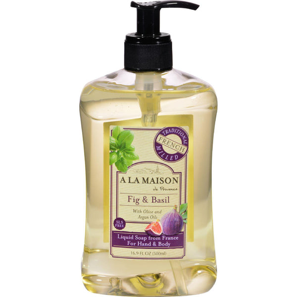 A La Maison French Liquid Soap - Fig And Basil - 16 Oz - exploreLOHAS