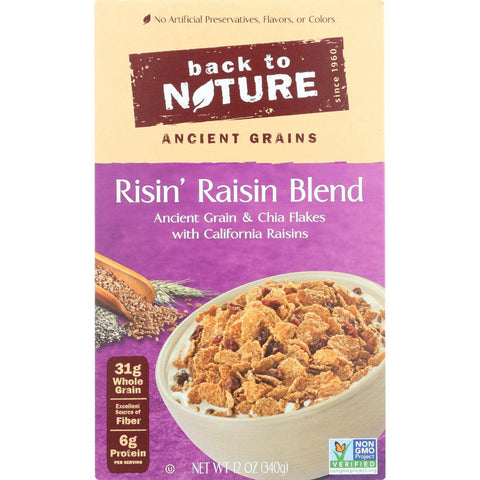 Beack To Nature Cereal - Risin Raisin Blend - 12 Oz - Case Of 6 - exploreLOHAS