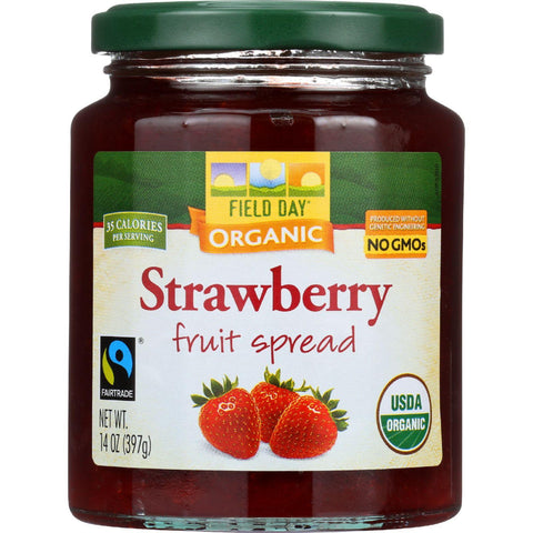 Field Day Fruit Spread - Organic - Strawberry - 14 Oz - Case Of 12 - exploreLOHAS