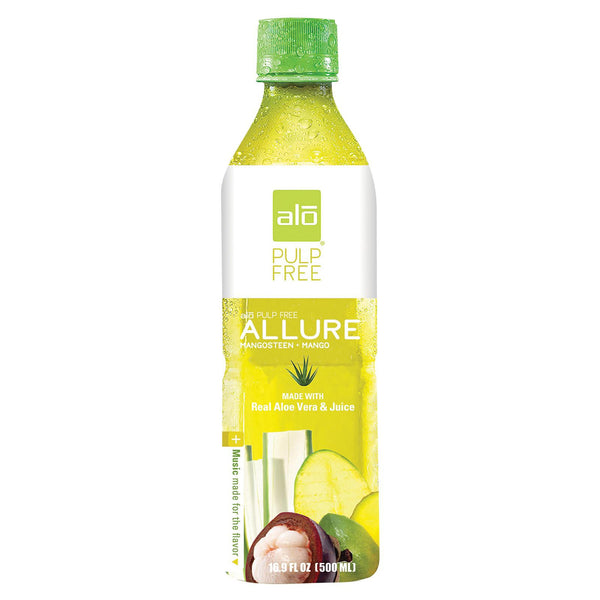 Alo Pulp Free Allure Aloe Vera Juice Drink - Mangosteen And Mango - Case Of 12 - 16.9 Fl Oz. - exploreLOHAS