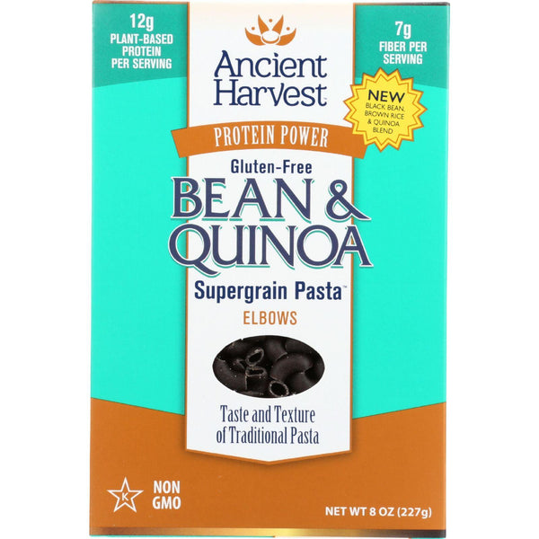 Ancient Harvest Pasta - Supergrain - Black Bean And Quinoa Elbows - Gluten Free - 8 Oz - Case Of 6 - exploreLOHAS
