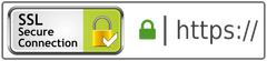 We are secured by the latest SSL technology
