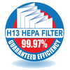 InovaAir H13 HEPA Filters 99.97% Guaranteed Efficiency