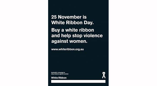 White Ribbon Day A3 Poster (x5)