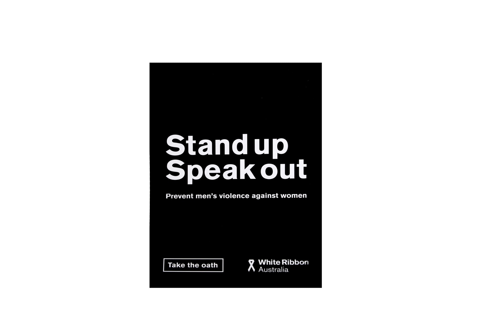 Stand Up Speak Out A3 Poster (x5)