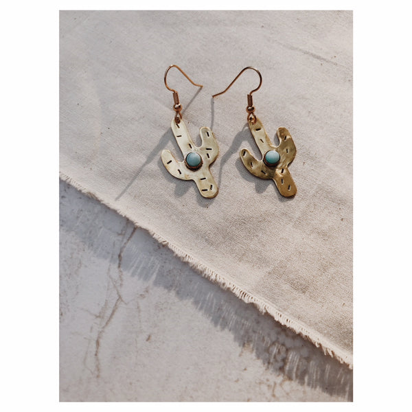 Saguaro Earrings in LARIMAR