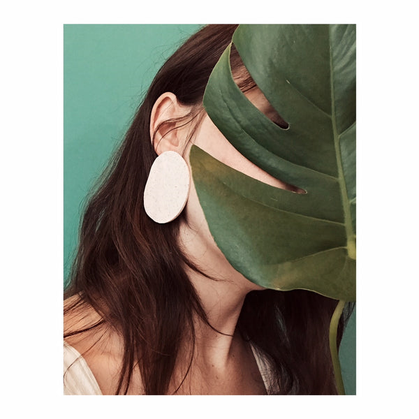 Boulder Earrings in Bauhaus