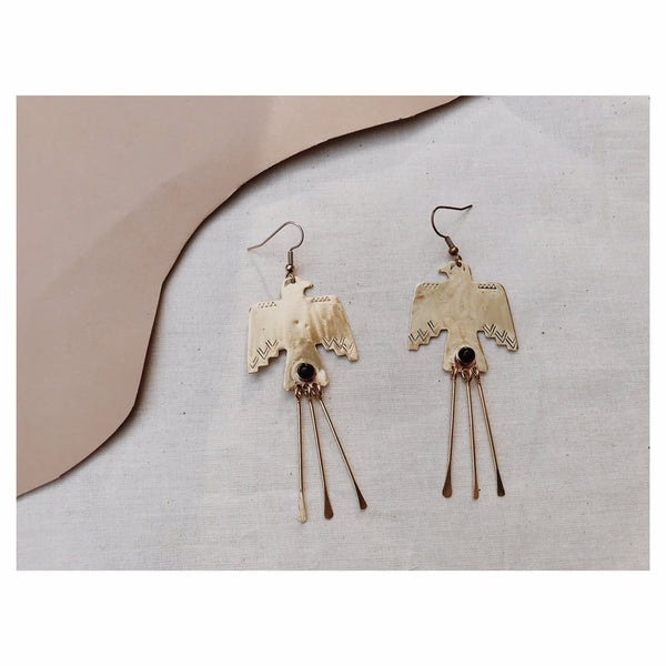 Wa Earrings in ONYX