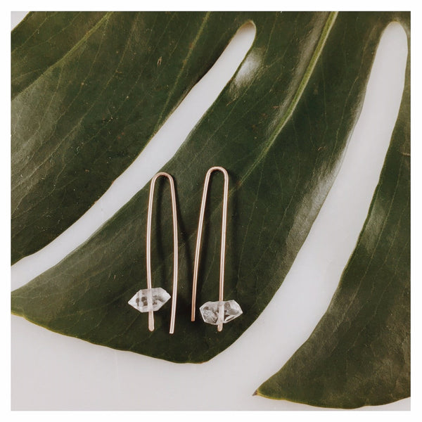 Herkimer Arc Earrings