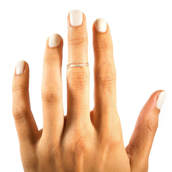Sterling Silver Threadbare Stacking Ring