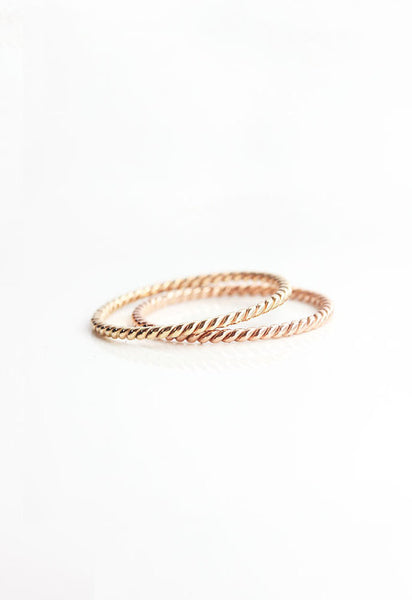 14k Gold Filled Rope Ring