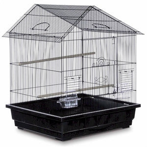 Red Offset Roof Parakeet Cage