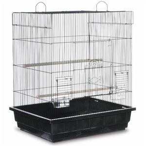 White Square Roof Parakeet Cage