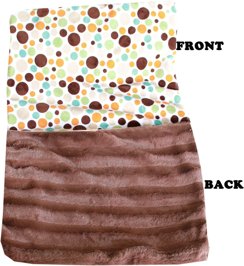 Luxurious Plush Carrier Blanket Fall Party Dots
