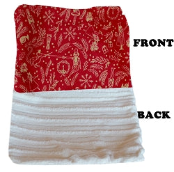 Luxurious Plush Itty Bitty Baby Blanket Red Holiday Whimsy