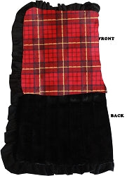 Luxurious Plush Pet Blanket Red Plaid