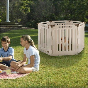 6 Panel Convertible Indoor Outdoor Pet Playpen