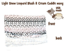 Light Snow Leopard Itty Bitty Baby Blanket