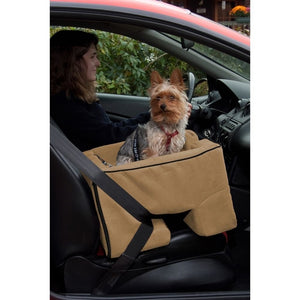 Tan Large Dog Booster Car Seat
